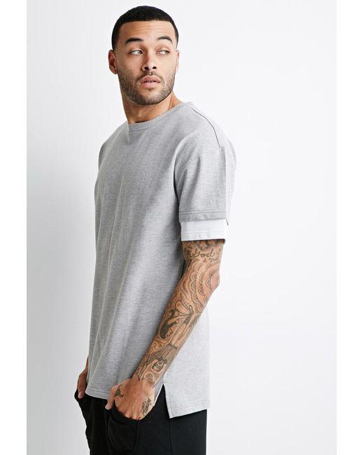 Forever 21 | Gray Layered Sweatshirt Tee | Lyst