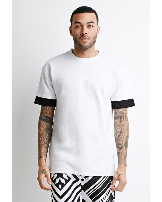 Forever 21 | Black Layered Sweatshirt Tee | Lyst
