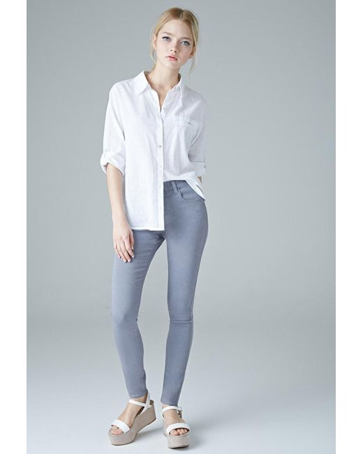 Forever 21 | Gray The Sunset Mid Rise Jean You've Been Added To The Waitlist | Lyst