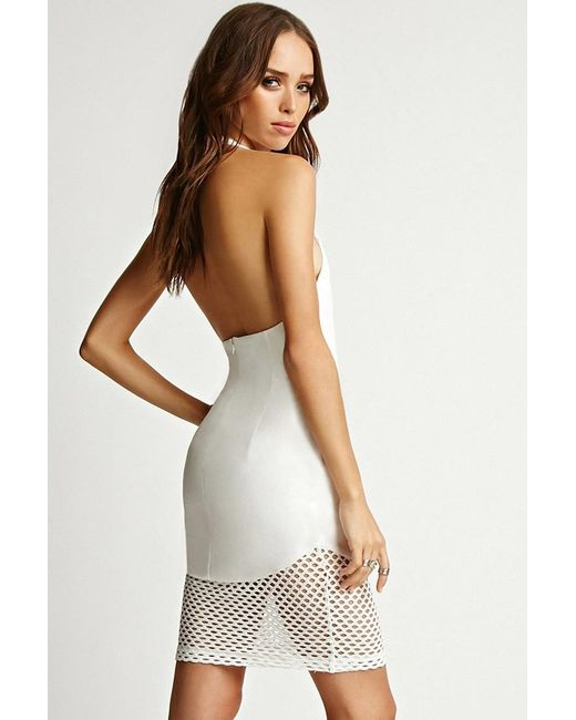 Forever 21 | White Rise Of Dawn One And Only Halter Dress | Lyst