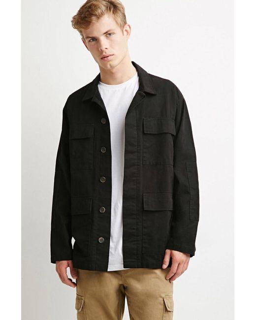 Forever 21   Black Classic Utility Jacket for Men   Lyst
