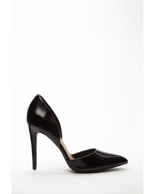 Forever 21 | Black Faux Leather Pumps | Lyst