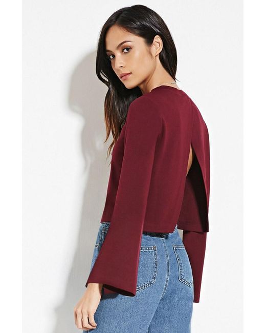 Forever 21 | Purple Bell-sleeved Top | Lyst