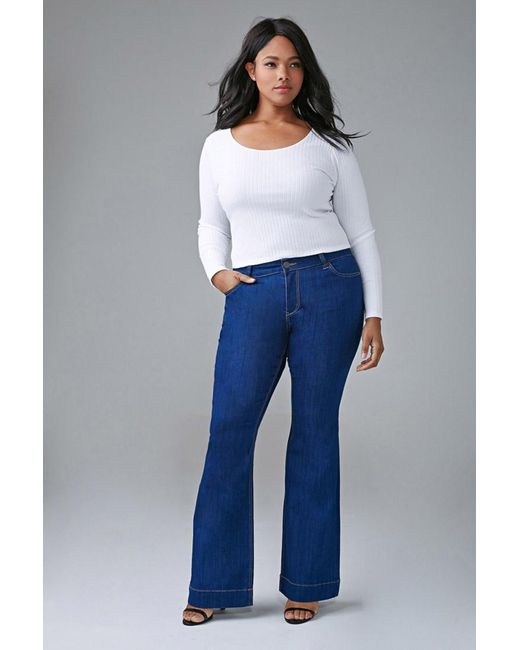 Forever 21 | Blue Plus Size Classic Flared Jeans | Lyst