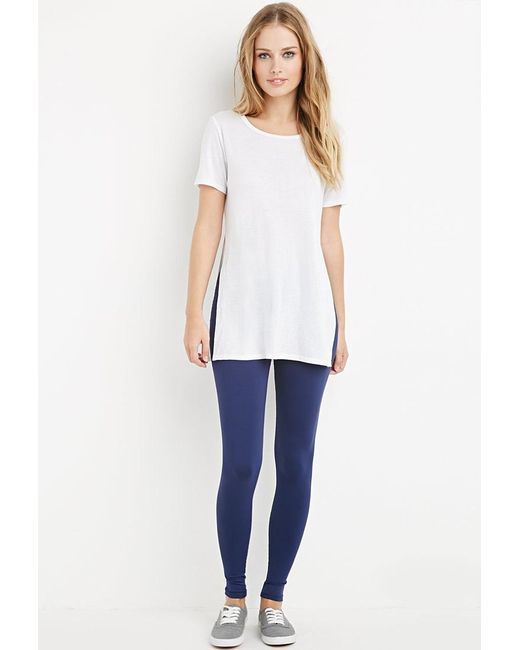 Forever 21 | Blue Nylon-blend Leggings | Lyst