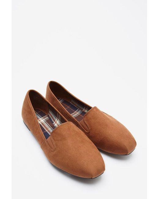 Forever 21 | Natural Faux Suede Loafers | Lyst