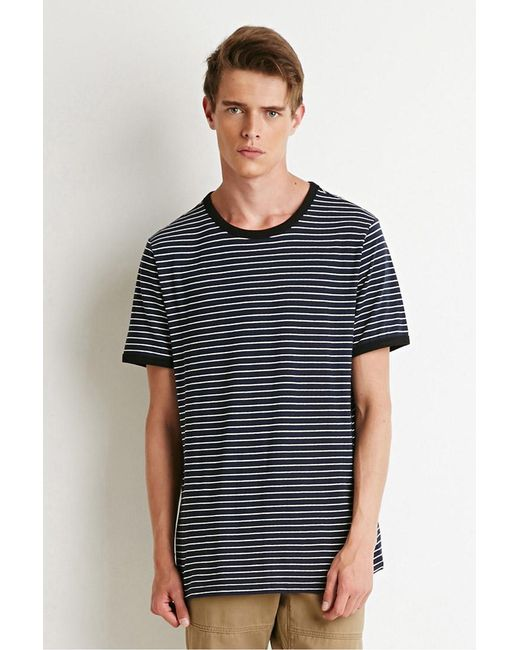 Forever 21 | Blue Striped Ringer Tee for Men | Lyst