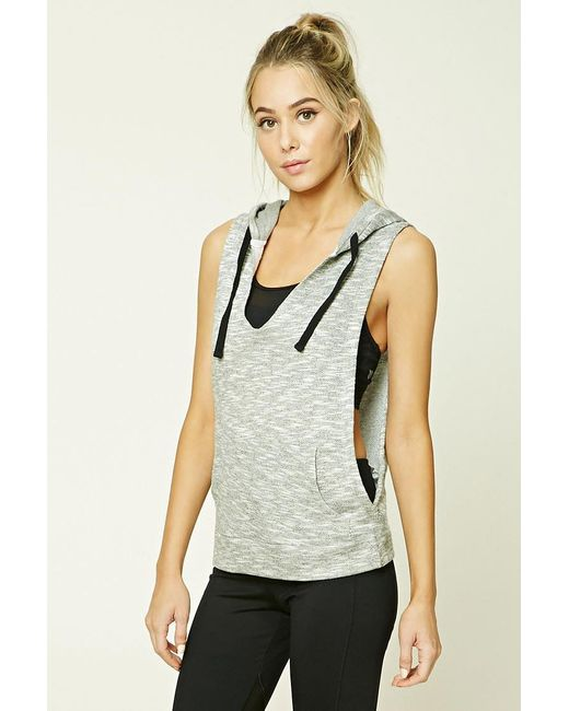Forever 21 | Gray Active Heathered Hoodie | Lyst