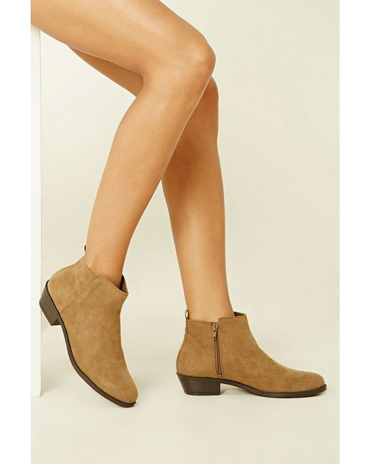 Forever 21 | Multicolor Faux Suede Ankle Booties | Lyst