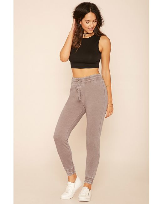 Forever 21 | Gray Heathered Knit Sweatpants | Lyst