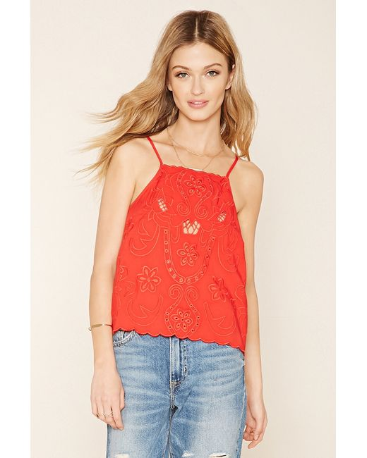 Forever 21 | Contemporary Embroidered Cami | Lyst