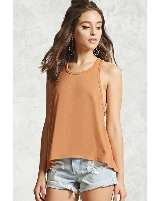 Forever 21 | Multicolor Ribbed Trapeze-hem Tank | Lyst