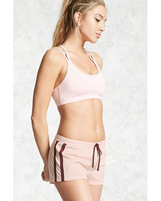 Forever 21 | Pink Active Contrast Trim Shorts | Lyst