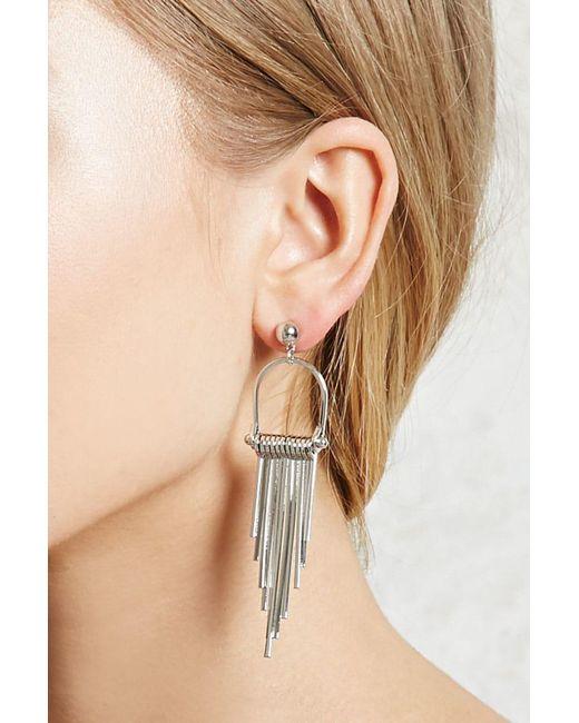 Forever 21   Metallic Matchstick Drop Earrings   Lyst