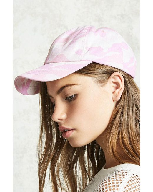 Forever 21 | Pink Camo Print Baseball Cap | Lyst