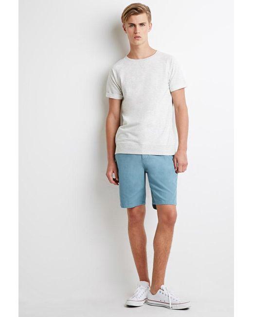 Forever 21   Blue Cotton Canvas Shorts for Men   Lyst