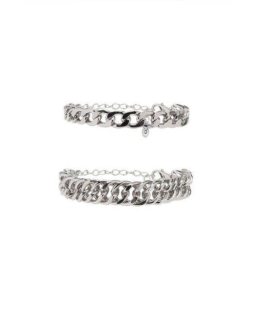 Forever 21   Metallic Curb Chain Bracelet Set   Lyst