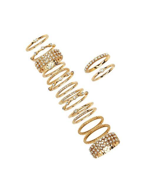 Forever 21   Metallic Rhinestone Stackable Ring Set   Lyst