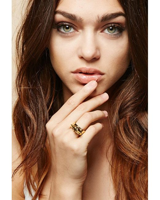Forever 21 - Metallic Amber Sceats Metal Alexia Ring - Lyst