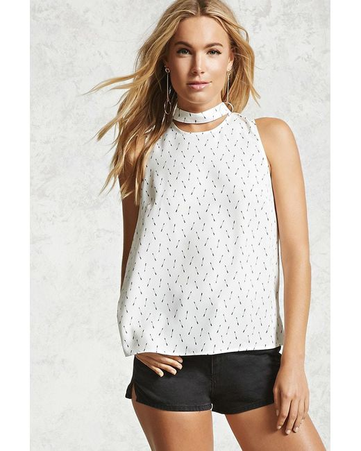 Forever 21 | Multicolor Arrow Print Choker Top | Lyst