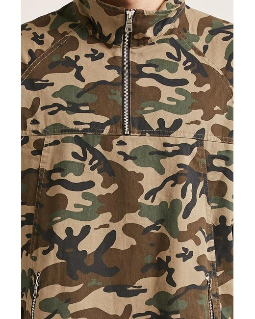 2709b18ad5b11 ... Lyst Forever 21 - Green 's Future Graphic Camo Jacket for Men ...