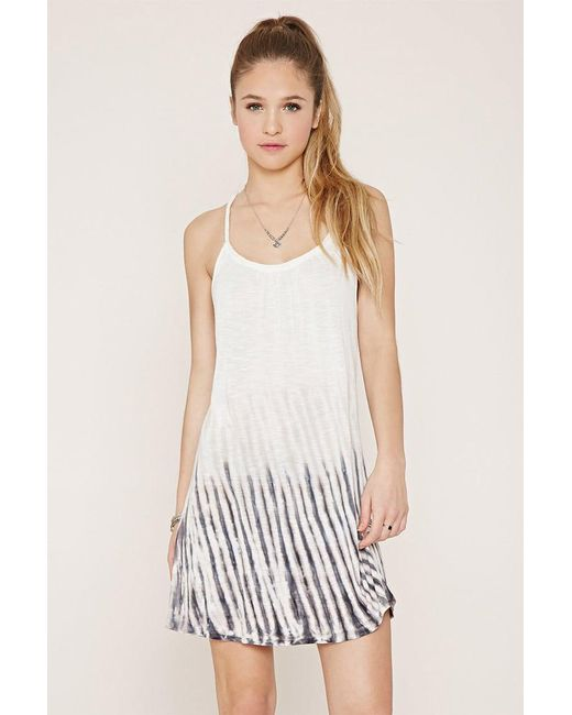 Forever 21 - White Tie-dye Mini Dress - Lyst