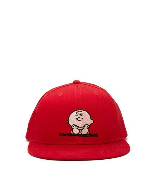Forever 21 | Red Men Charlie Brown Snapback Hat for Men | Lyst