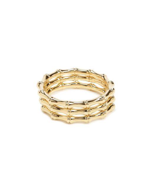 Forever 21 - Metallic Bamboo Bangle Bracelet Set - Lyst