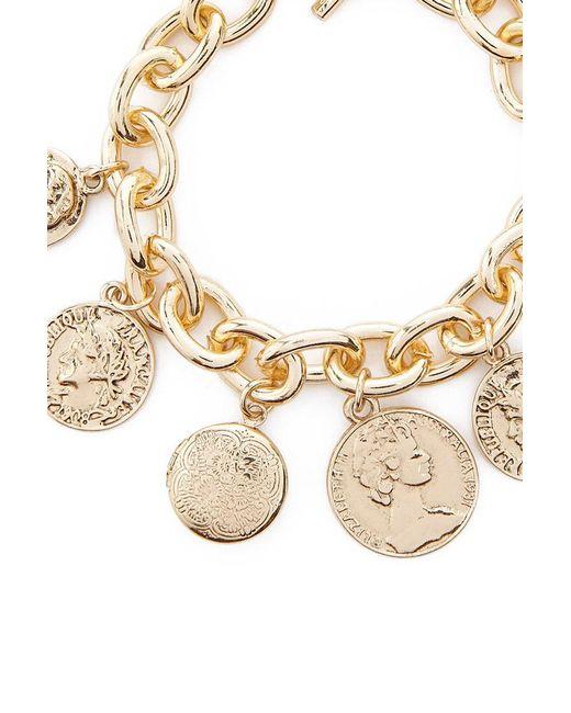 Forever 21 - Metallic Women's Coin Charm Bracelet - Lyst