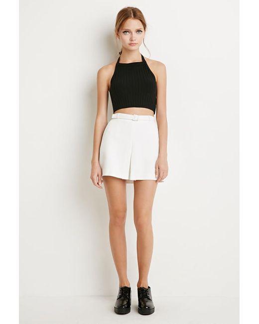 Forever 21   Natural Kick-pleat Mini Skirt   Lyst