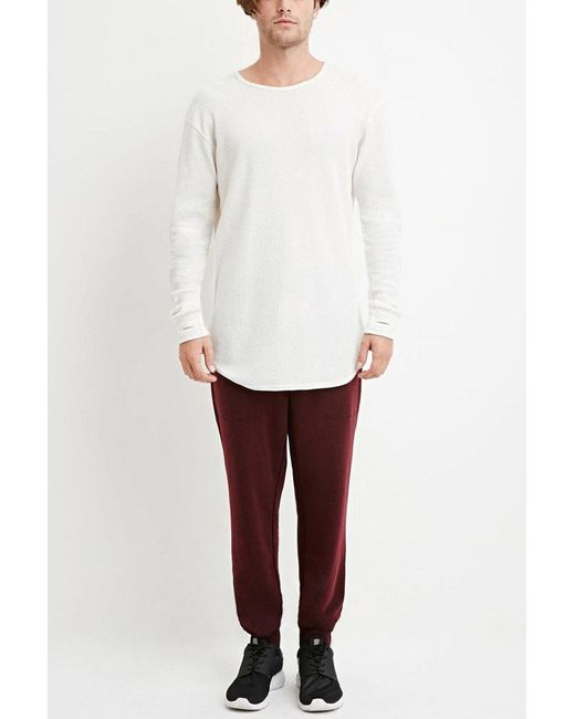 Forever 21 | Red Drawstring French Terry Joggers for Men | Lyst