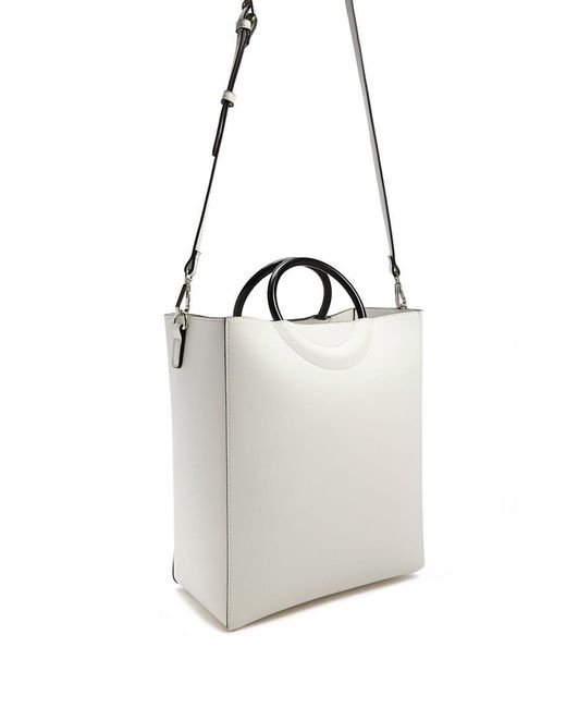 Forever 21 - White Faux Leather Tote Bag - Lyst