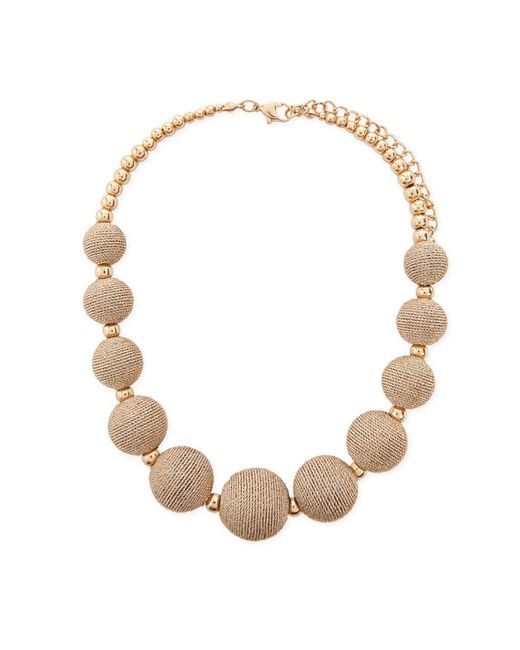 Forever 21 Metallic Beaded Statement Necklace , Gold