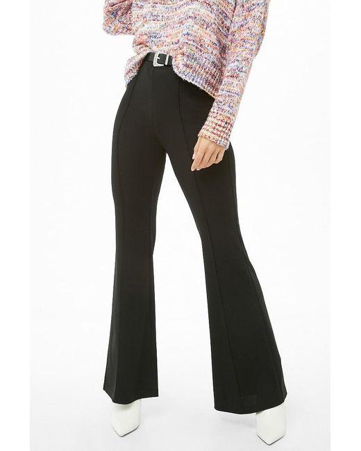 d3d7651c Women's Black Seam Flare Trousers