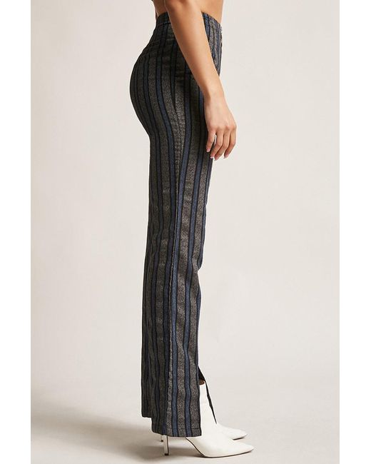 d64bc6380ba5f7 ... Forever 21 - Blue Wide-leg Stripe Pants - Lyst