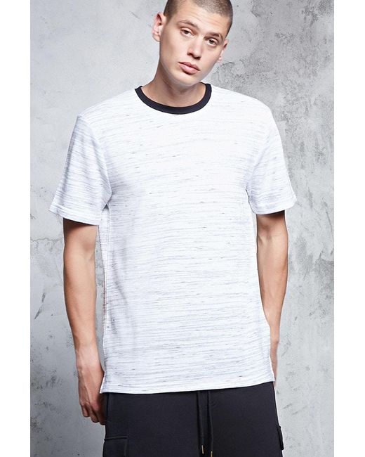 Forever 21 | Gray French Terry Crew Neck Tee for Men | Lyst