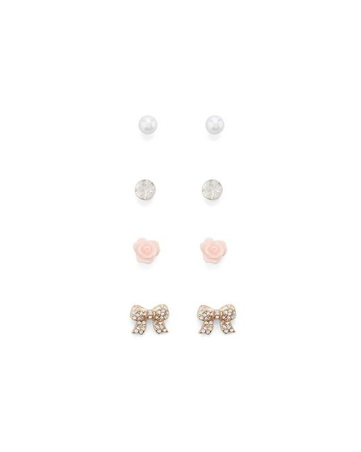 Forever 21 | Multicolor Rhinestone Bow Earring Set | Lyst