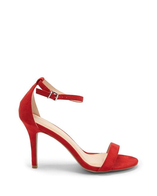 Forever 21 - Red Faux Suede Stiletto Heels - Lyst