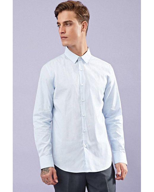 Forever 21   Blue Classic Cotton Shirt for Men   Lyst
