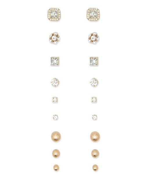 Forever 21 | Metallic Rhinestone Stud Earring Set | Lyst