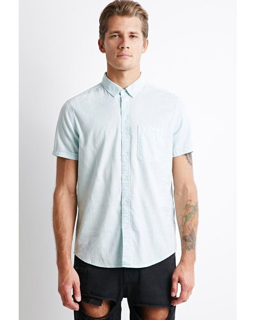 Forever 21 | Green Textured Pocket Shirt for Men | Lyst