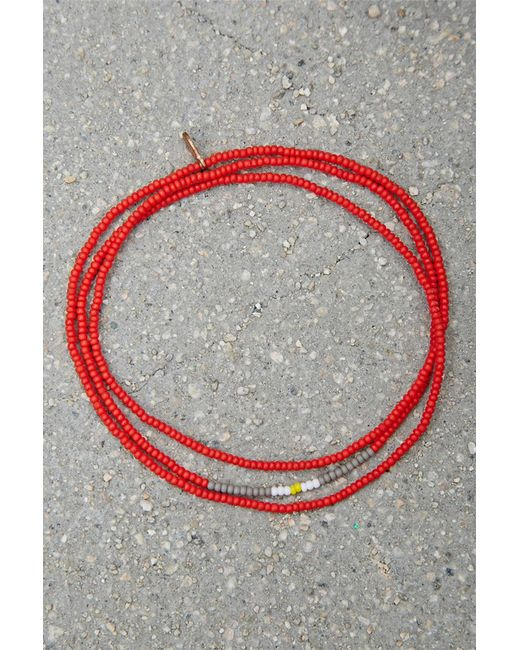 Forever 21   Red Bead Relief Wrap Bracelet   Lyst