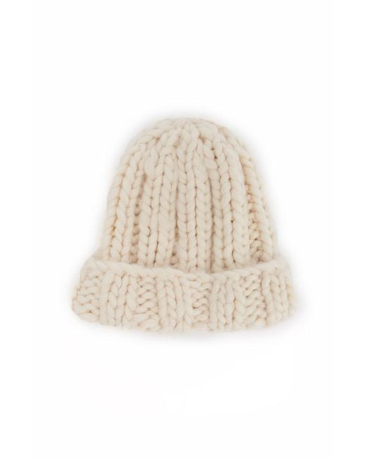 Forever 21 - Natural Foldover Ribbed Beanie - Lyst