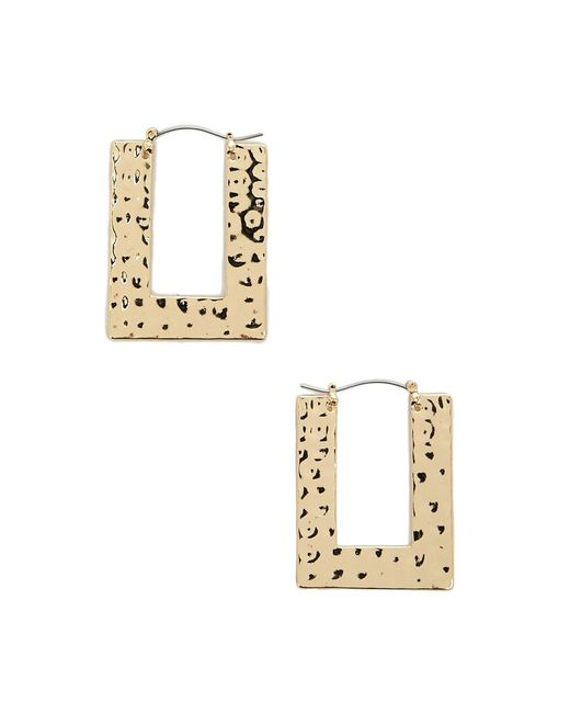 Forever 21 - Metallic Rectangular Hammered Drop Earrings - Lyst
