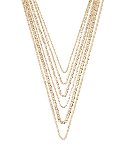 Forever 21 Metallic Layered Chain Necklace , Gold