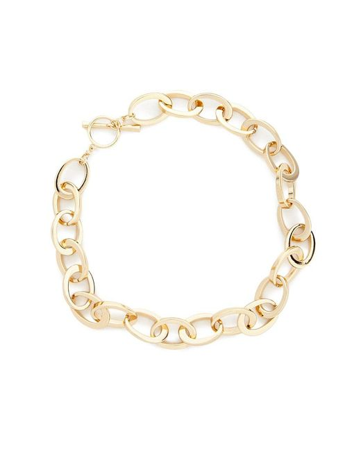 Forever 21 - Metallic Oval Chain Toggle Necklace - Lyst