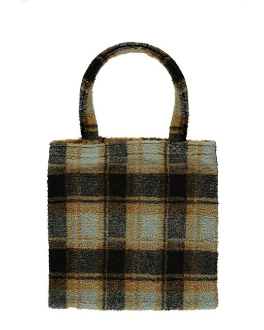 Forever 21 - Multicolor Faux Shearling Plaid Tote Bag - Lyst