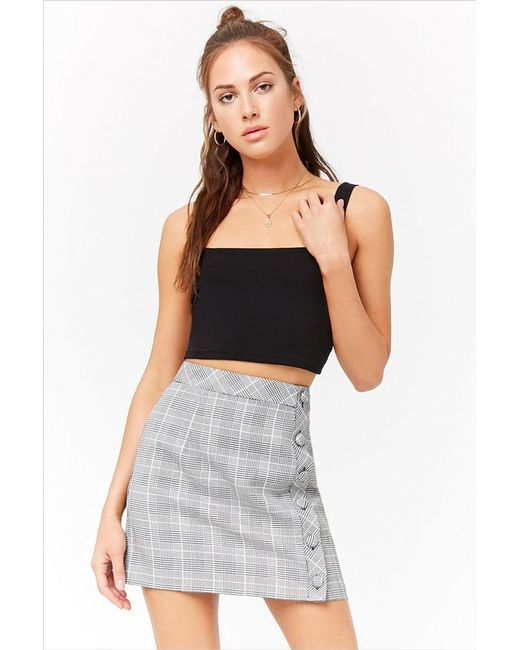 Forever 21 - Multicolor Check Button-front Skirt - Lyst