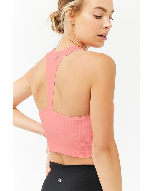 Forever 21 - Pink Women's Active Ribbed Knit Tank Top - Lyst