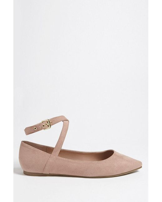 Forever 21 - Purple Faux Suede Pointed Flats - Lyst